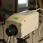 This infrared camera is used to detect tiny temperature differences between healthy tissue and a growing tumor.