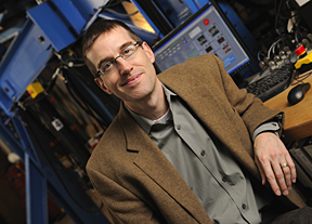 Ben Schafer, chair of the Department of Civil Engineering at Johns Hopkins, is lead researcher on an earthquake engineering study for cold-formed steel buildings. Photo by Will Kirk/ homewoodphoto.jhu.edu