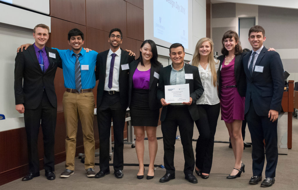 CricSpike undergraduate team members are (from left): Travis Wallace, Himanshu Dashora, Ronak Mehta, Qiuyin Ren, Antonio Spina, Jordan Kreger, Sondra Rahmeh, Michael Good, and Ryan Walter (not pictured). Photo by John Bidlack/Homewood Photography.