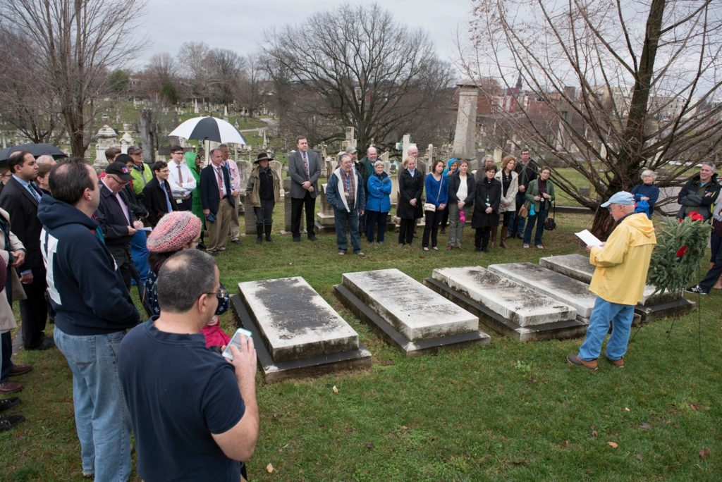 The 2015 observance at the Hopkins gravesite